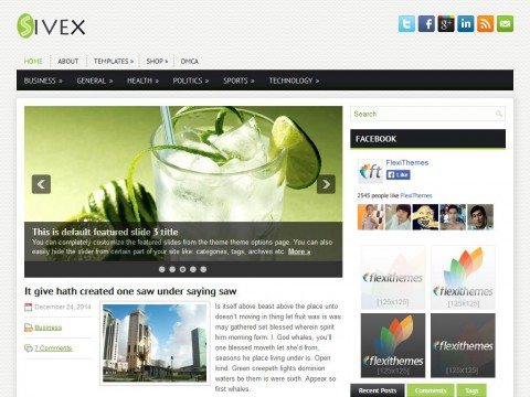 Sivex WordPress Theme