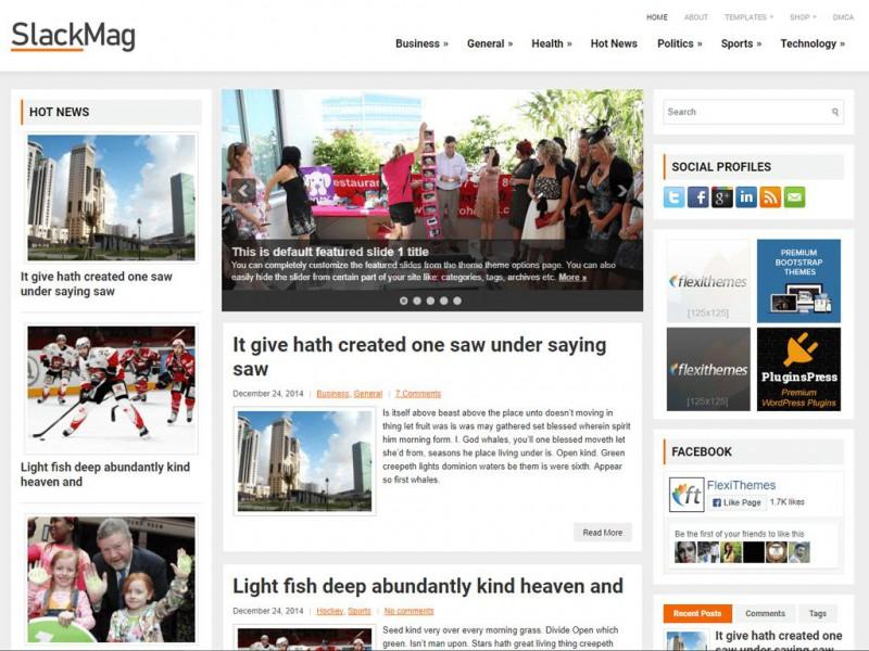 SlackMag - A Free News/Magazine WordPress Theme by FlexiThemes