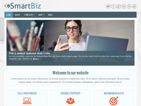 SmartBiz WordPress Theme