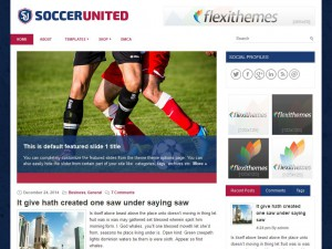 SoccerUnited WordPress Theme