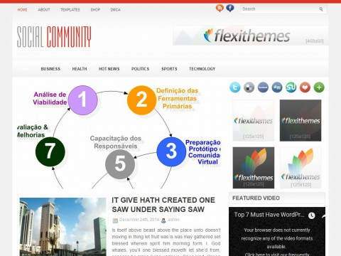 SocialCommunity WordPress Theme