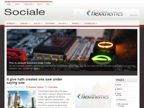 Sociale WordPress Theme