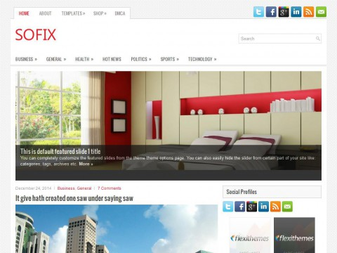 Sofix WordPress Theme