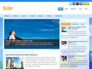 Solar WordPress Theme