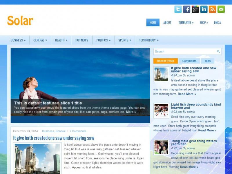 Best Free Solar Energy WordPress Theme Available Online