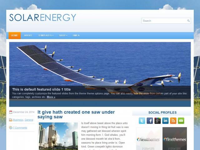 SolarEnergy Theme Demo