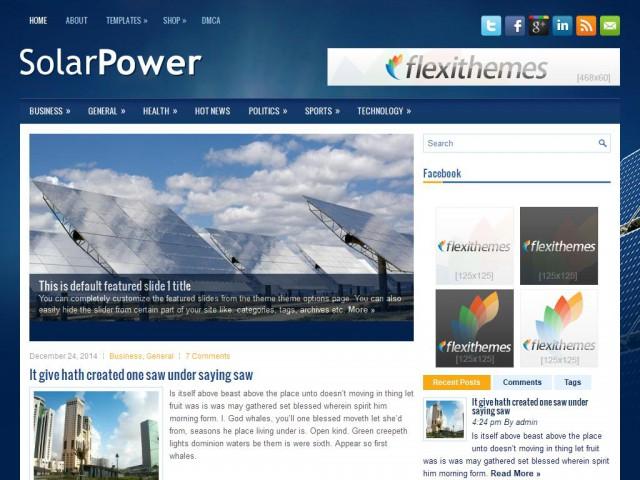 SolarPower Theme Demo