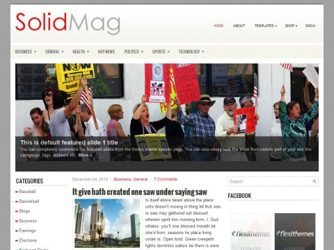 SolidMag WordPress Theme