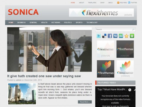Sonica WordPress Theme