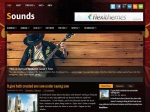 Sounds WordPress Theme