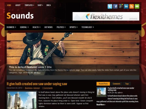 Sounds WordPress Theme