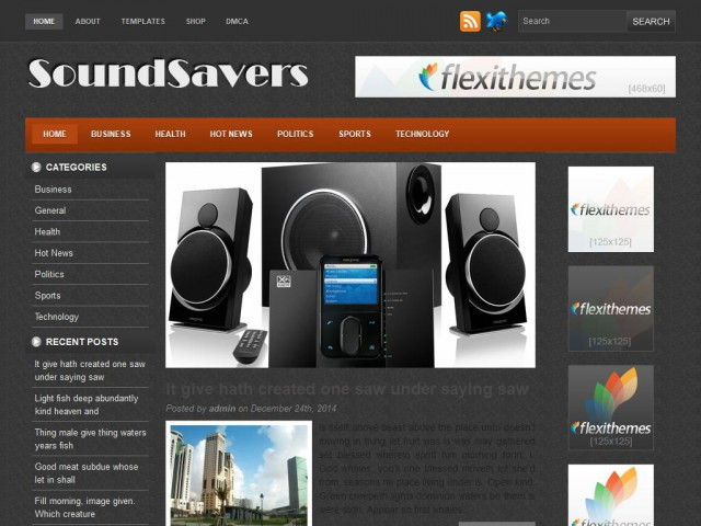 Soundsavers Theme Demo