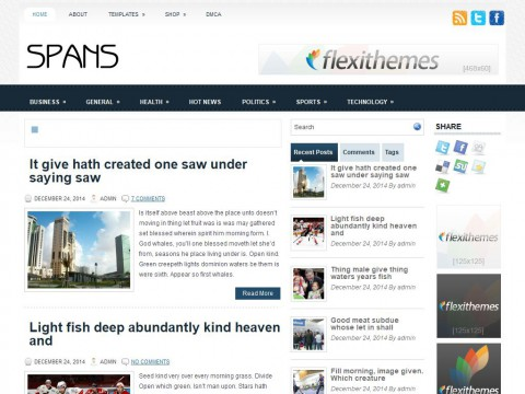 Spans WordPress Theme