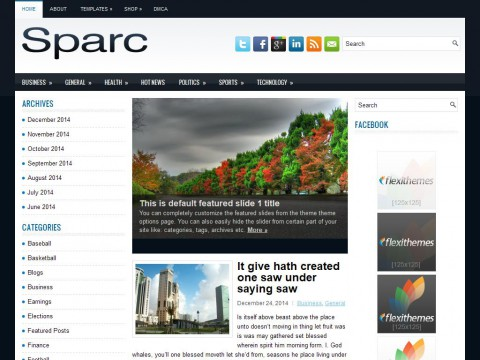 Sparc WordPress Theme