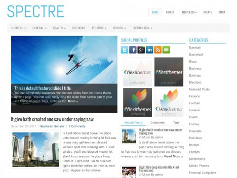 Spectre WordPress Theme