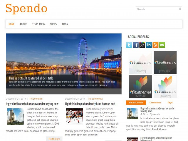 Spendo Theme Demo