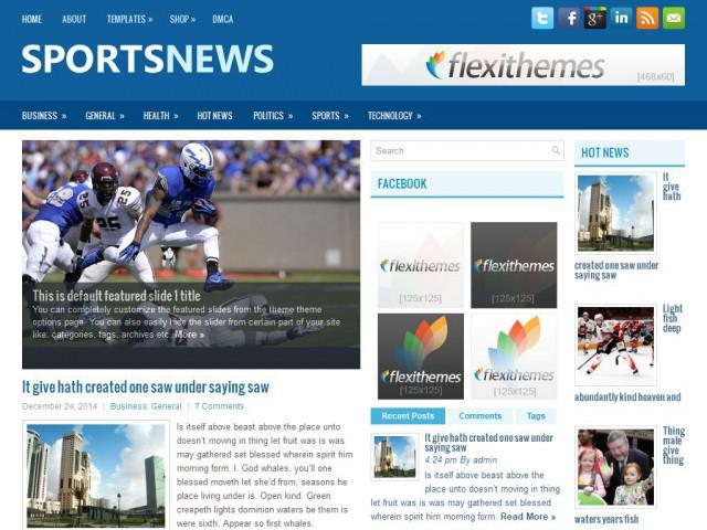 SportsNews Theme Demo
