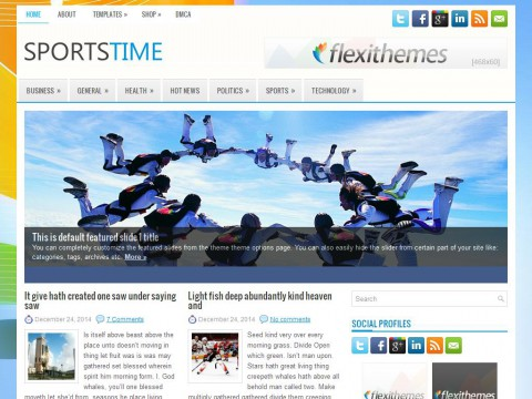 SportsTime WordPress Theme