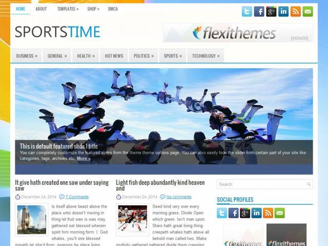 SportsTime Theme Demo