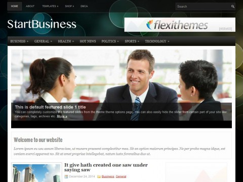 StartBusiness WordPress Theme