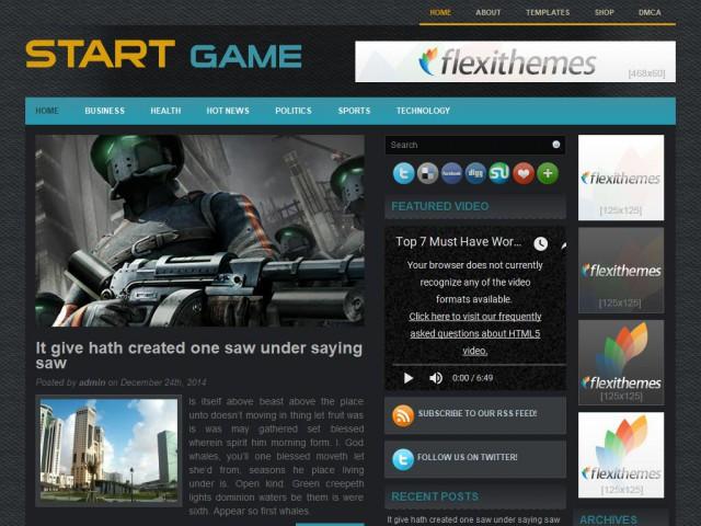 StartGame Theme Demo