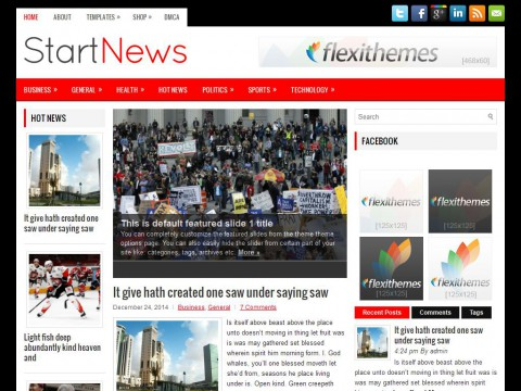 StartNews WordPress Theme