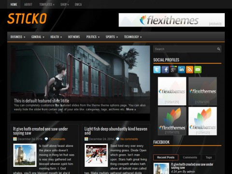 Sticko WordPress Theme