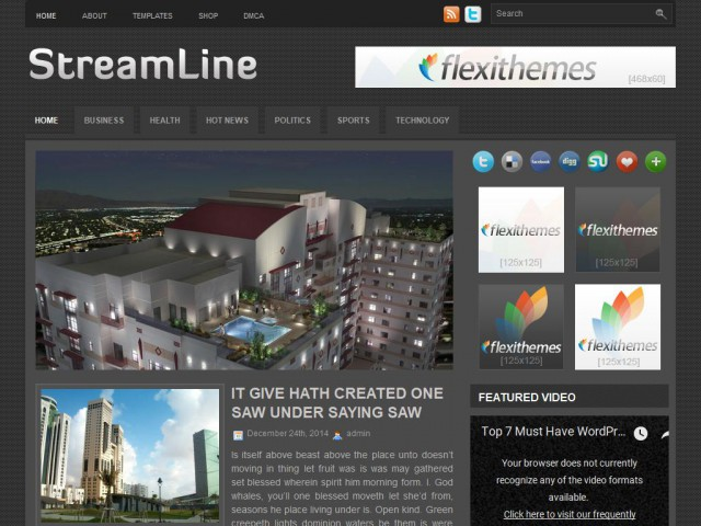StreamLine Theme Demo