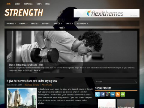 Strength WordPress Theme