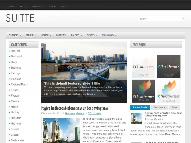 Suitte Theme Demo