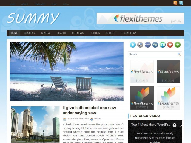 Summy Theme Demo