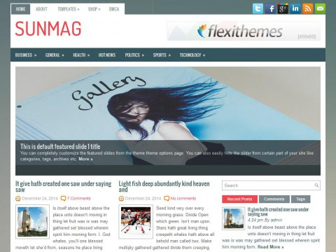 SunMag WordPress Theme