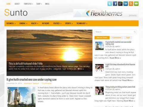 Sunto WordPress Theme