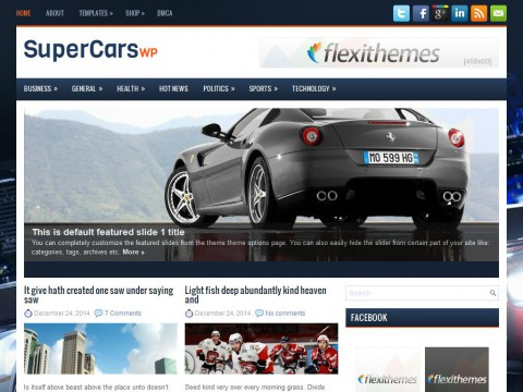 SuperCarsWp WordPress Theme