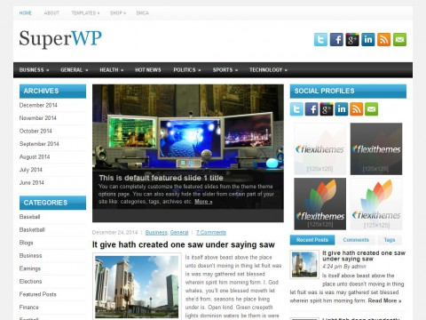 SuperWP WordPress Theme