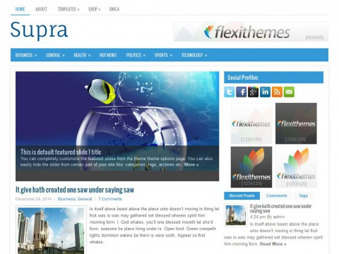 Supra WordPress Theme