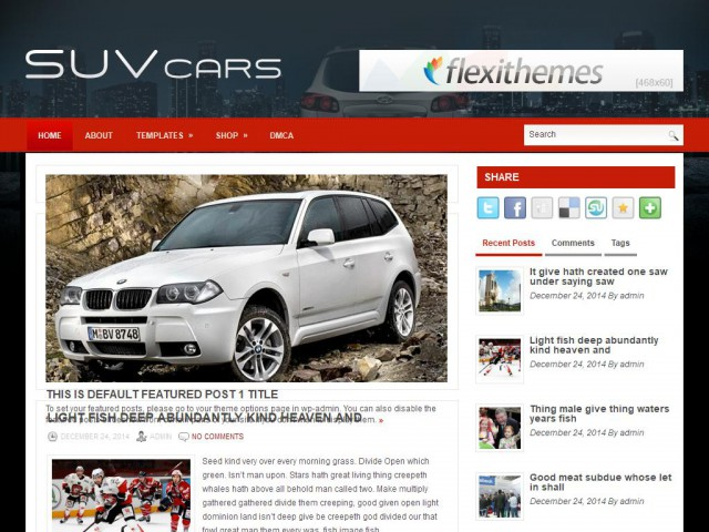 SuvCars Theme Demo