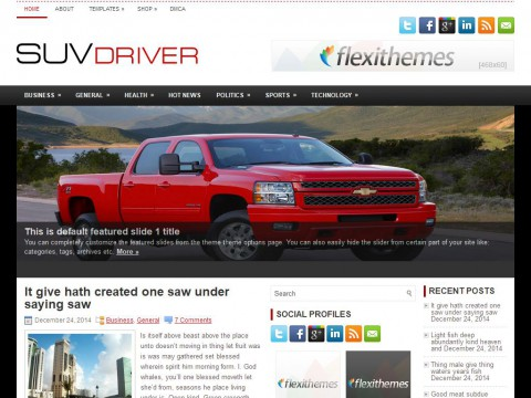 SuvDriver WordPress Theme
