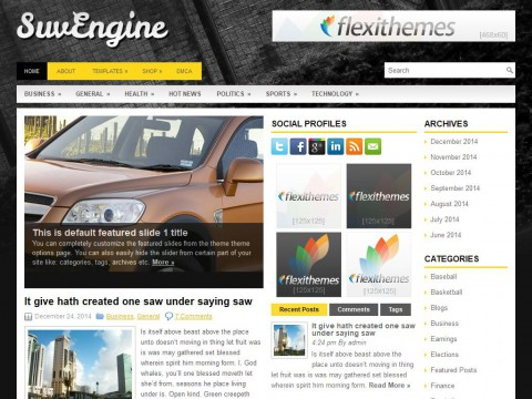 SuvEngine WordPress Theme