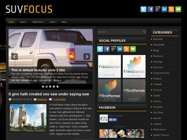 SuvFocus Theme Demo