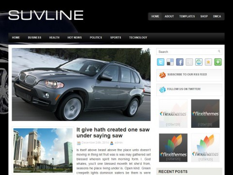SuvLine WordPress Theme