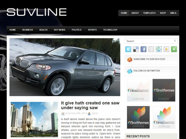 SuvLine Theme Demo