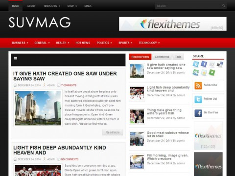 SuvMag WordPress Theme