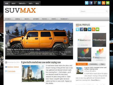 SuvMax WordPress Theme