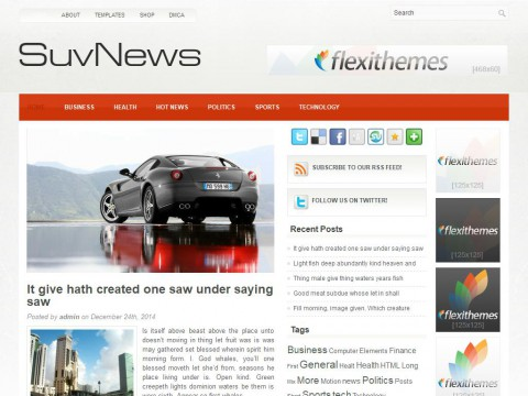 SuvNews WordPress Theme