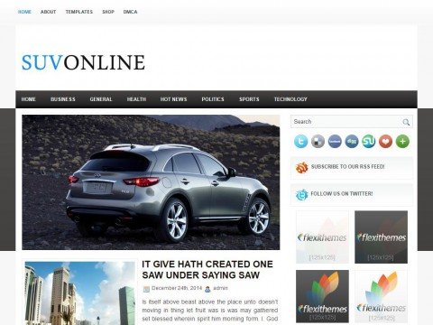 SuvOnline WordPress Theme