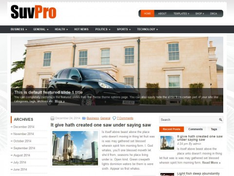 SuvPro WordPress Theme