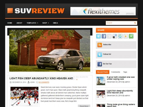 SuvReview WordPress Theme