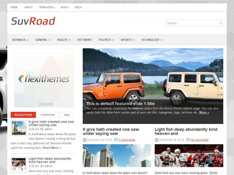 SuvRoad WordPress Theme