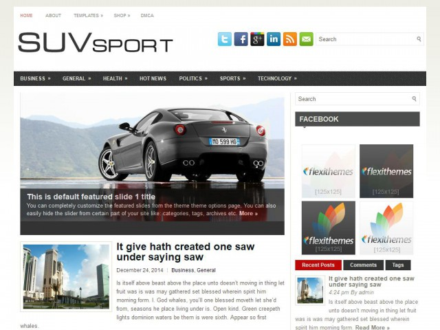 SuvSport Theme Demo